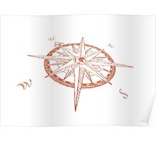 Compass rose - Windrose Poster