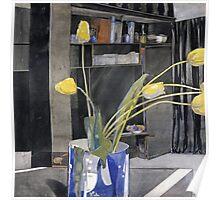 Vintage yellow art - Charles Rennie Mackintosh  - Yellow Tulips Poster