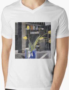 Vintage yellow art - Charles Rennie Mackintosh  - Yellow Tulips Mens V-Neck T-Shirt