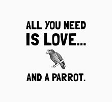 Love And A Parrot Unisex T-Shirt