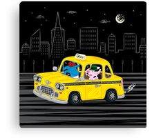 Taxi Ride Canvas Print