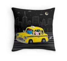 Taxi Ride Throw Pillow