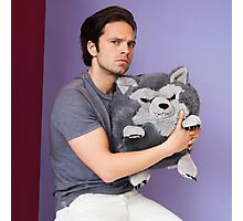 Sebastian Stan and Friend <3 Photographic Print