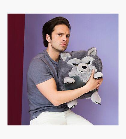 Sebastian Stan and Friend <3 Photographic Print