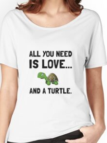 Love And A Turtle Women's Relaxed Fit T-Shirt