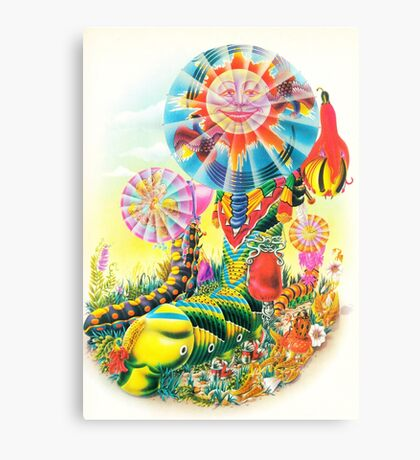 Psychedelic Caterpillar  Canvas Print