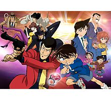 Lupin and Conan Photographic Print