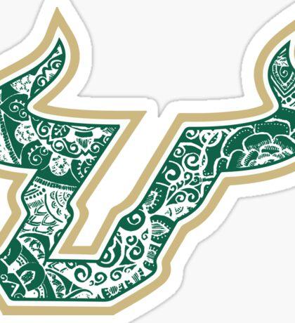 University of South Florida Doodle Sticker