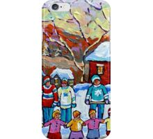 WINTER PALYGROUND PAINTING CANADIAN ART iPhone Case/Skin