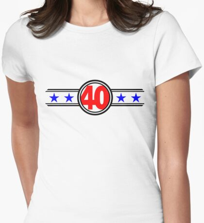 Forty Stars Womens Fitted T-Shirt