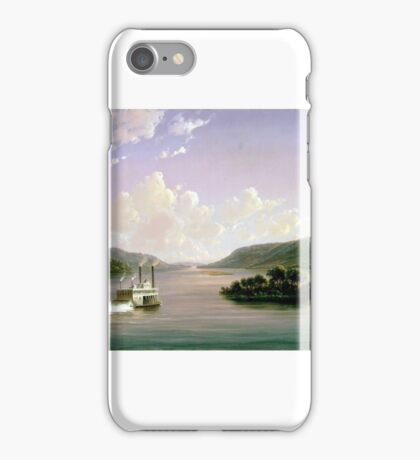 Ferdinand Richardt - View of the Mississippi iPhone Case/Skin