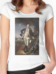 Vintage famous art - Charles Willson Peale - George Washington Women's Fitted Scoop T-Shirt