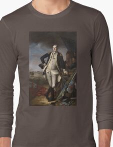 Vintage famous art - Charles Willson Peale - George Washington Long Sleeve T-Shirt