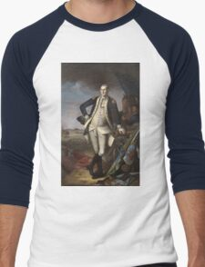 Vintage famous art - Charles Willson Peale - George Washington Men's Baseball ¾ T-Shirt