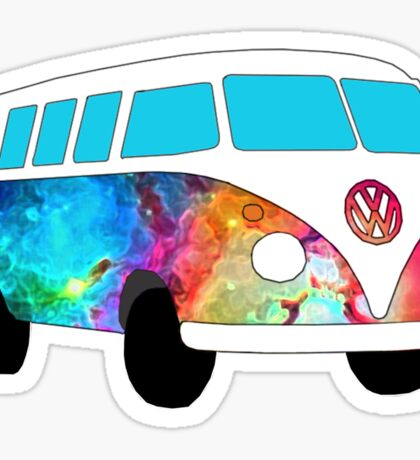 VW Rainbow Hippie Bus! Sticker