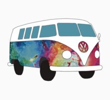 VW Rainbow Hippie Bus! One Piece - Short Sleeve