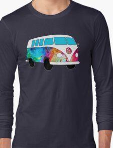 VW Rainbow Hippie Bus! Long Sleeve T-Shirt