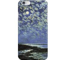 Vintage famous art - Childe Hassam - Moonlight, Isle Of Shoals iPhone Case/Skin