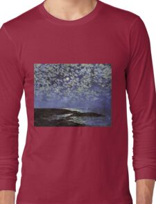 Vintage famous art - Childe Hassam - Moonlight, Isle Of Shoals Long Sleeve T-Shirt