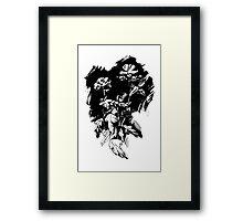 Ink flowers Framed Print