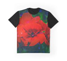 Desirable Red Graphic T-Shirt