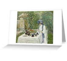 Vintage famous art - Childe Hassam - French Tea Garden Greeting Card