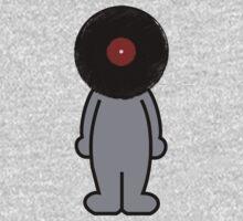 Vinylized!!! Vinyl Records DJ Retro Music Man T-Shirt Stickers Prints Kids Tee