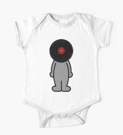 Vinylized!!! Vinyl Records DJ Music Man One Piece - Short Sleeve