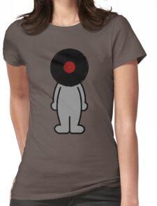 Vinylized!!! Vinyl Records DJ Music Man Womens Fitted T-Shirt