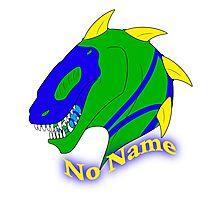 No Name Badge Photographic Print