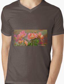 Texas Rose 3 Mens V-Neck T-Shirt