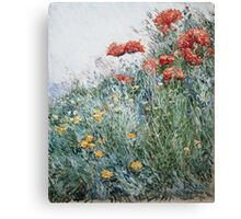 Vintage famous art - Childe Hassam - Poppies, Appledore Canvas Print