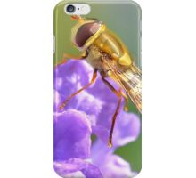 Hoverfly on Purple Flower iPhone Case/Skin