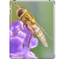 Hoverfly on Purple Flower iPad Case/Skin