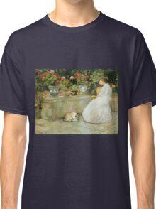 Vintage famous art - Childe Hassam - Reading Classic T-Shirt