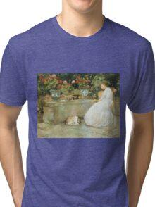 Vintage famous art - Childe Hassam - Reading Tri-blend T-Shirt
