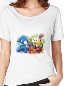 Pokemon - Popplio, Litten, Rowlet Women's Relaxed Fit T-Shirt