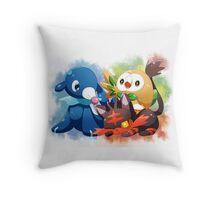 Pokemon - Popplio, Litten, Rowlet Throw Pillow