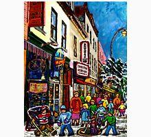 RUE ST.LAURENT WITH SCHWARTZ'S DELI WINTER MONTREAL CITY SCENE ART Unisex T-Shirt