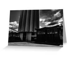 Old industry from the back. Greeting Card