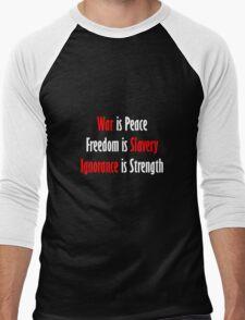 War is Peace - Nineteen Eighty-Four Men's Baseball ¾ T-Shirt
