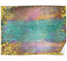 Sunset, Barbados - Impressionist original painting with gold leaf Poster