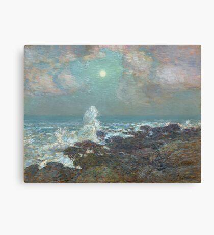 Vintage famous art - Childe Hassam - Seascape-Isle Of Shoals Canvas Print