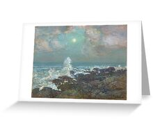 Vintage famous art - Childe Hassam - Seascape-Isle Of Shoals Greeting Card