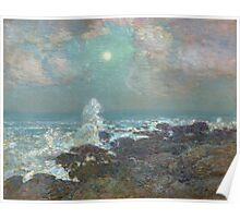 Vintage famous art - Childe Hassam - Seascape-Isle Of Shoals Poster