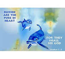 Blessed Are The Pure In Heart Photographic Print