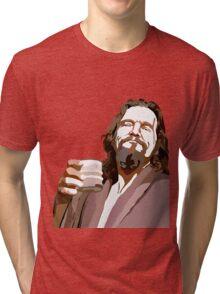 Big Lebowski DUDE Portrait Tri-blend T-Shirt