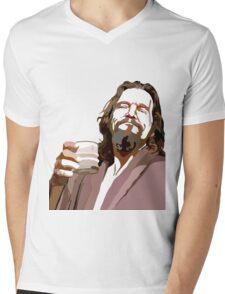 Big Lebowski DUDE Portrait Mens V-Neck T-Shirt