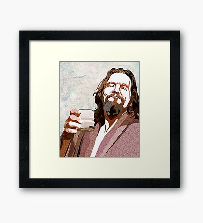 Big Lebowski DUDE Portrait Framed Print