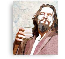 Big Lebowski DUDE Portrait Metal Print